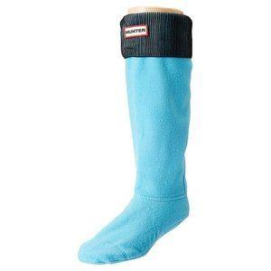 HUNTER ORIGINAL Tall BOOT SOCKS Sky Blue / Black